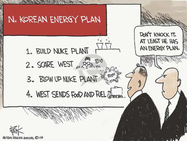 Cartoonist Chip Bok  Chip Bok's Editorial Cartoons 2008-06-30 energy policy