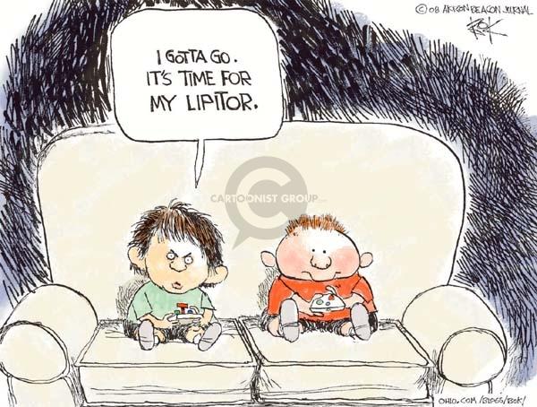 Cartoonist Chip Bok  Chip Bok's Editorial Cartoons 2008-07-12 time