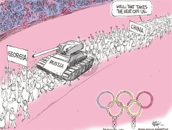 Chip Bok  Chip Bok's Editorial Cartoons 2008-08-11 Georgia Russia