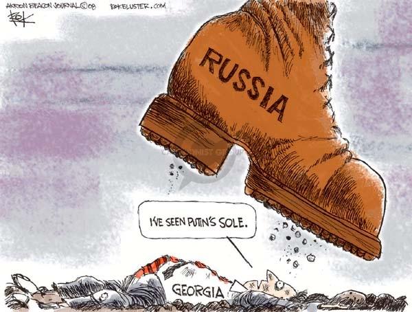 Chip Bok  Chip Bok's Editorial Cartoons 2008-08-13 Georgia Russia