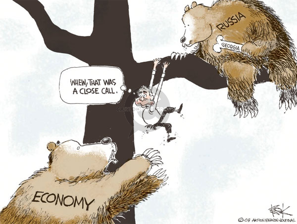 Cartoonist Chip Bok  Chip Bok's Editorial Cartoons 2008-08-15 bear attack