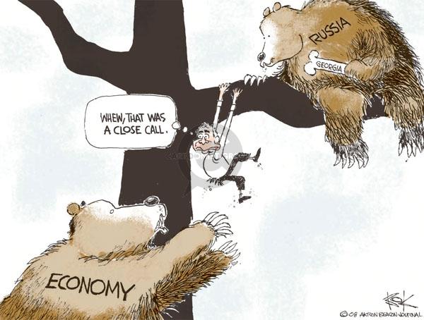 Cartoonist Chip Bok  Chip Bok's Editorial Cartoons 2008-08-15 Russian President