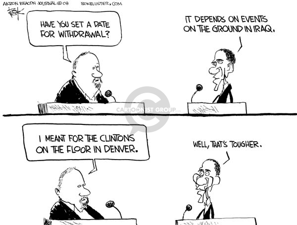 Cartoonist Chip Bok  Chip Bok's Editorial Cartoons 2008-08-19 democratic candidate