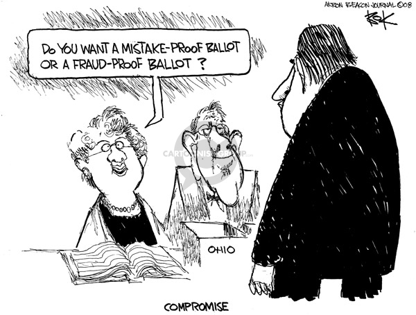 Chip Bok  Chip Bok's Editorial Cartoons 2008-01-22 voter fraud