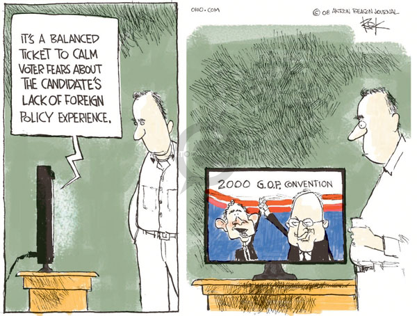 Cartoonist Chip Bok  Chip Bok's Editorial Cartoons 2008-08-27 policy