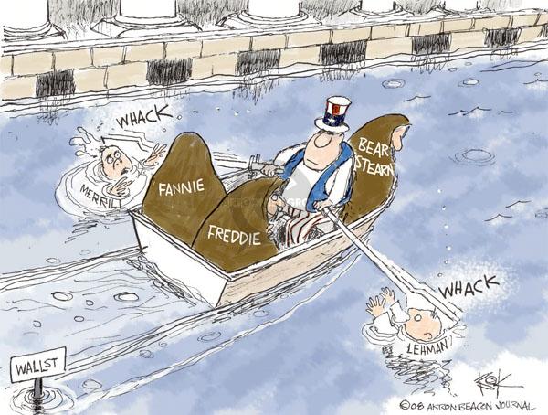 Chip Bok  Chip Bok's Editorial Cartoons 2008-09-16 stock market