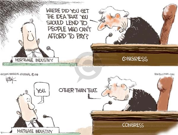 Cartoonist Chip Bok  Chip Bok's Editorial Cartoons 2008-10-07 law