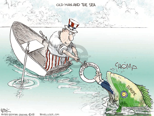 Cartoonist Chip Bok  Chip Bok's Editorial Cartoons 2008-10-08 finance investment