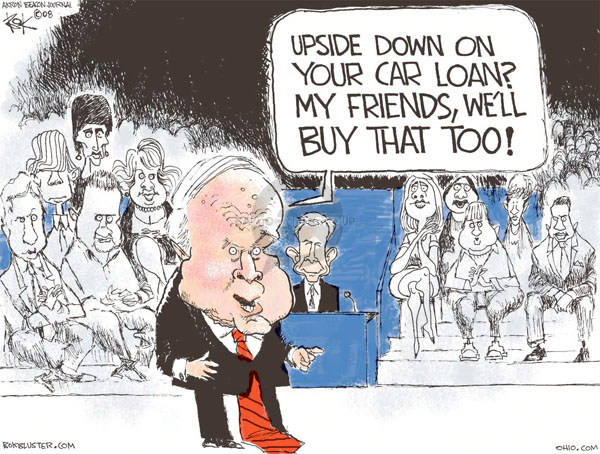 Cartoonist Chip Bok  Chip Bok's Editorial Cartoons 2008-10-09 presidential candidate