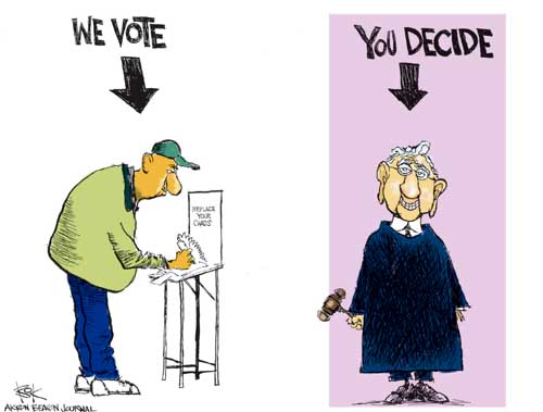 Chip Bok  Chip Bok's Editorial Cartoons 2004-11-01 voting rights