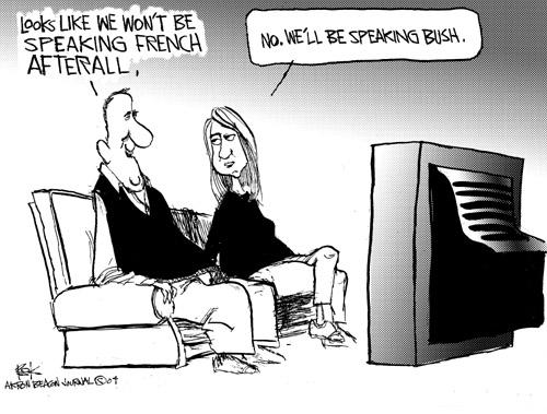 Cartoonist Chip Bok  Chip Bok's Editorial Cartoons 2004-11-08 French language