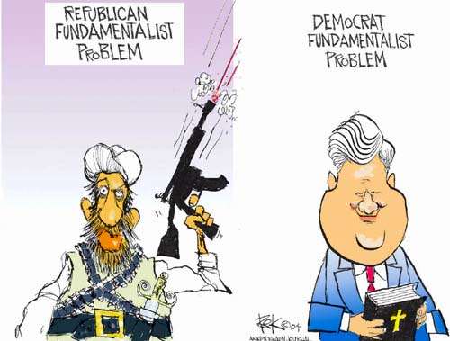 Cartoonist Chip Bok  Chip Bok's Editorial Cartoons 2004-11-09 democrat