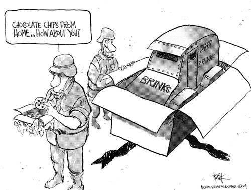 Cartoonist Chip Bok  Chip Bok's Editorial Cartoons 2004-12-13 truck