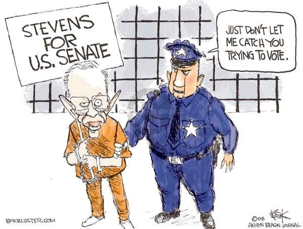 Cartoonist Chip Bok  Chip Bok's Editorial Cartoons 2008-10-29 corruption