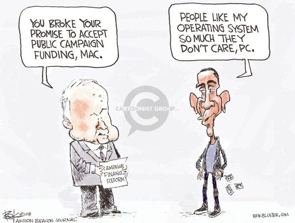 Cartoonist Chip Bok  Chip Bok's Editorial Cartoons 2008-10-31 candidate