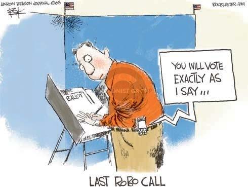Cartoonist Chip Bok  Chip Bok's Editorial Cartoons 2008-11-04 ballot