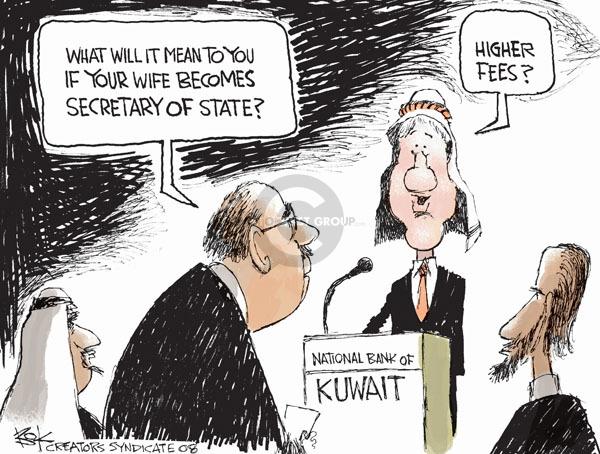 Cartoonist Chip Bok  Chip Bok's Editorial Cartoons 2008-11-19 Clinton administration