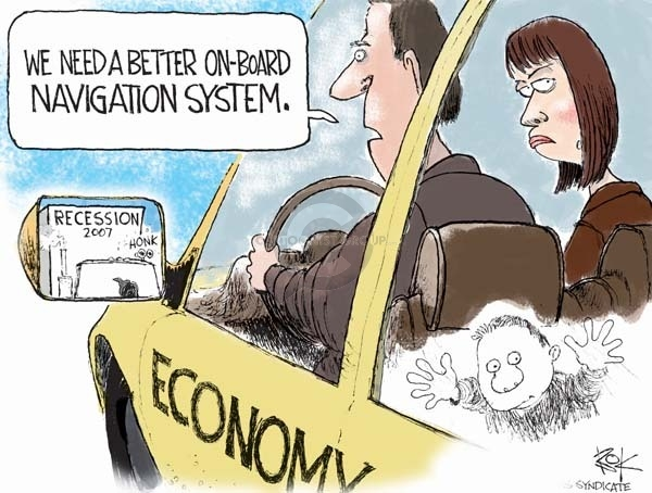 Cartoonist Chip Bok  Chip Bok's Editorial Cartoons 2008-12-03 global economy