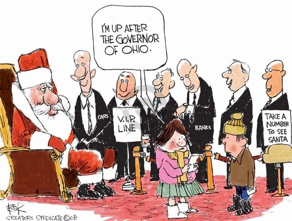 Cartoonist Chip Bok  Chip Bok's Editorial Cartoons 2008-12-03 number