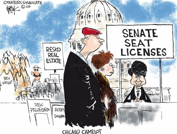 Cartoonist Chip Bok  Chip Bok's Editorial Cartoons 2008-12-11 corruption