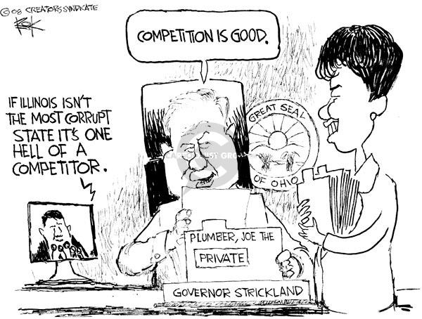Cartoonist Chip Bok  Chip Bok's Editorial Cartoons 2008-12-13 corruption