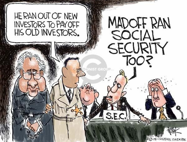 Chip Bok  Chip Bok's Editorial Cartoons 2008-12-19 stock market