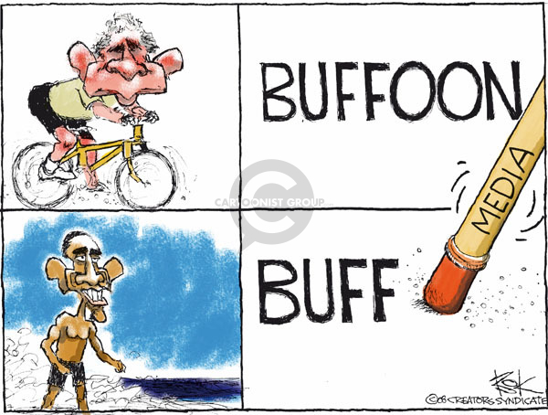 Cartoonist Chip Bok  Chip Bok's Editorial Cartoons 2008-12-30 photograph