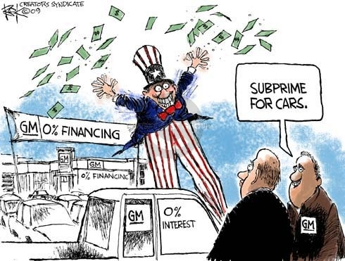 Chip Bok  Chip Bok's Editorial Cartoons 2009-01-06 General Motors