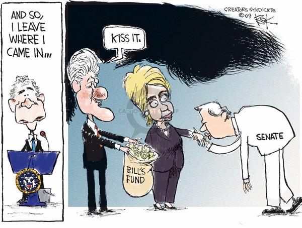 Cartoonist Chip Bok  Chip Bok's Editorial Cartoons 2009-01-15 former president