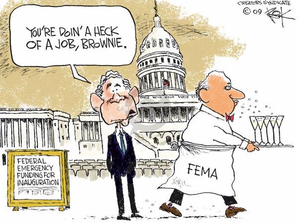 Chip Bok  Chip Bok's Editorial Cartoons 2009-01-20 Hurricane Katrina