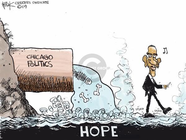 Cartoonist Chip Bok  Chip Bok's Editorial Cartoons 2009-01-30 corruption