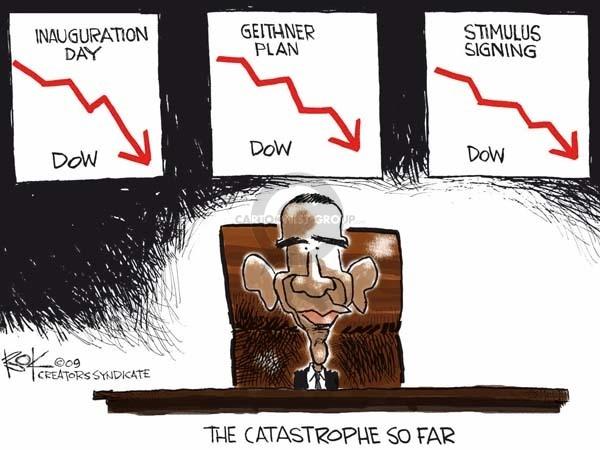 Cartoonist Chip Bok  Chip Bok's Editorial Cartoons 2009-02-18 Obama economy