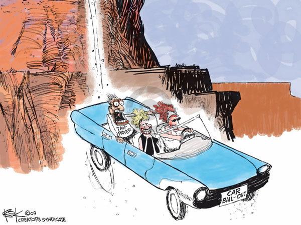 Cartoonist Chip Bok  Chip Bok's Editorial Cartoons 2009-02-23 manufacturer