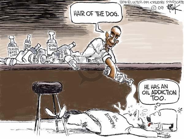 Cartoonist Chip Bok  Chip Bok's Editorial Cartoons 2009-02-25 economic stimulus