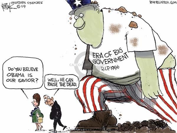 Cartoonist Chip Bok  Chip Bok's Editorial Cartoons 2009-03-03 economic stimulus
