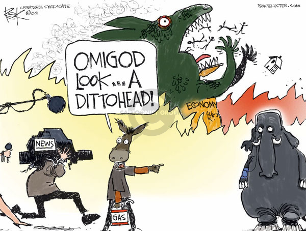 Chip Bok  Chip Bok's Editorial Cartoons 2009-03-06 distraction