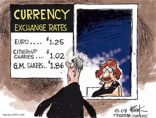 Cartoonist Chip Bok  Chip Bok's Editorial Cartoons 2009-03-06 currency