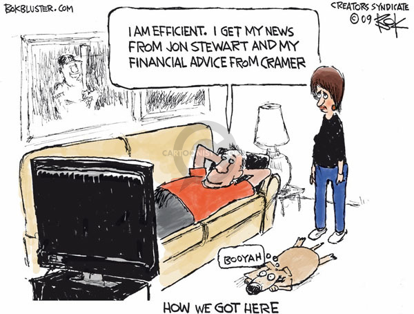 Cartoonist Chip Bok  Chip Bok's Editorial Cartoons 2009-03-13 credibility