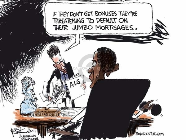 Cartoonist Chip Bok  Chip Bok's Editorial Cartoons 2009-03-17 Obama economy