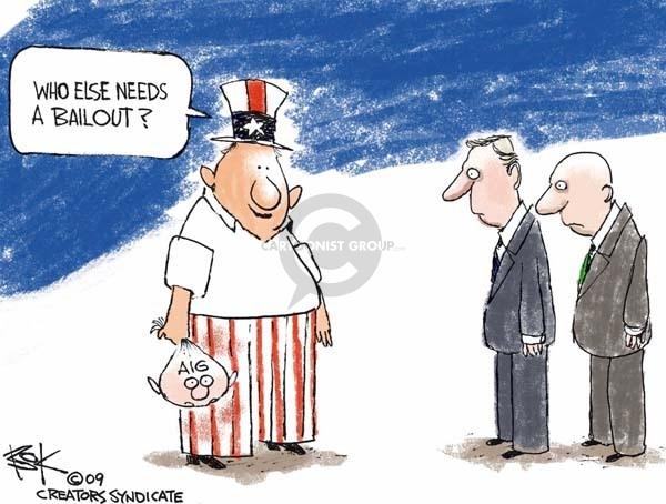 Chip Bok  Chip Bok's Editorial Cartoons 2009-03-24 group
