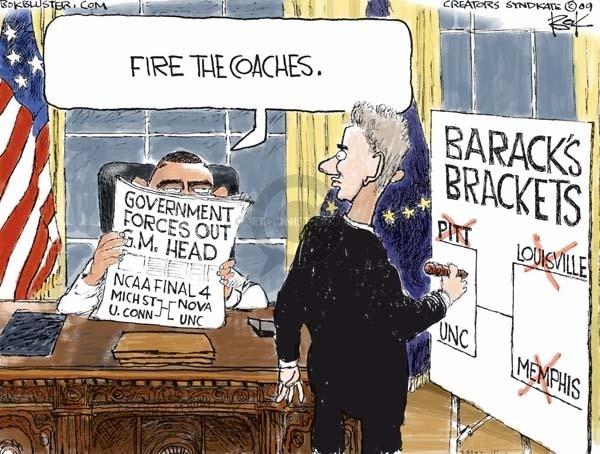 Cartoonist Chip Bok  Chip Bok's Editorial Cartoons 2009-03-31 Obama economy