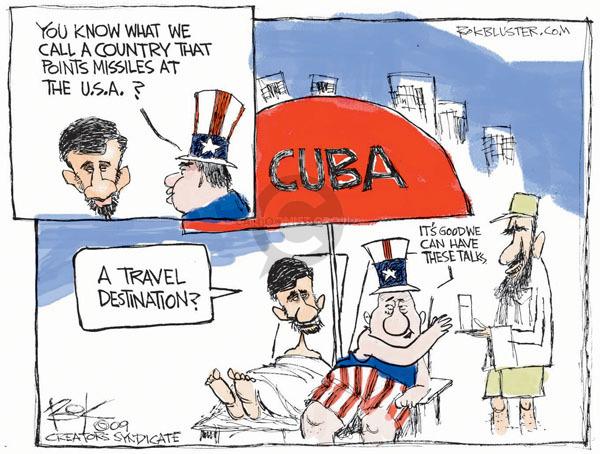 Chip Bok  Chip Bok's Editorial Cartoons 2009-04-16 Mahmoud Ahmadinejad