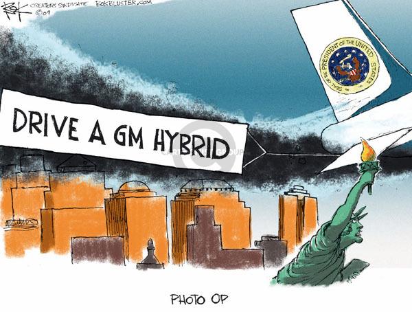 Cartoonist Chip Bok  Chip Bok's Editorial Cartoons 2009-04-29 hybrid car