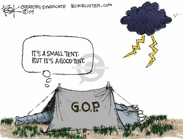 Cartoonist Chip Bok  Chip Bok's Editorial Cartoons 2009-05-01 republican party