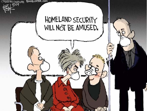 Cartoonist Chip Bok  Chip Bok's Editorial Cartoons 2009-05-05 Homeland Security