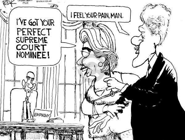 Chip Bok  Chip Bok's Editorial Cartoons 2009-05-08 Clinton cabinet