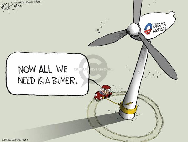 Cartoonist Chip Bok  Chip Bok's Editorial Cartoons 2009-05-21 Obama economy
