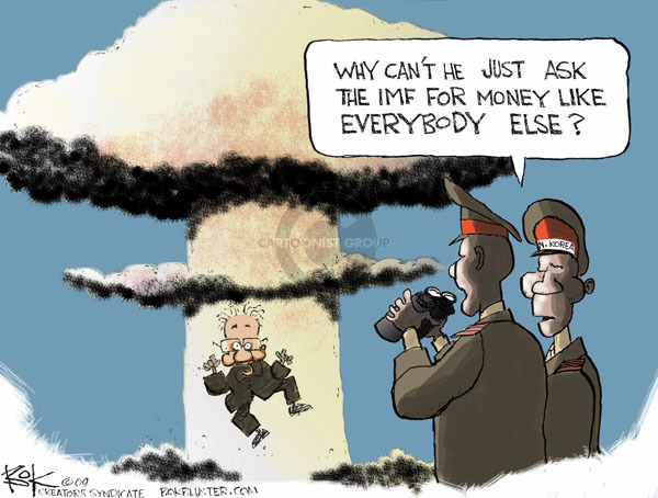 Cartoonist Chip Bok  Chip Bok's Editorial Cartoons 2009-05-27 global economy