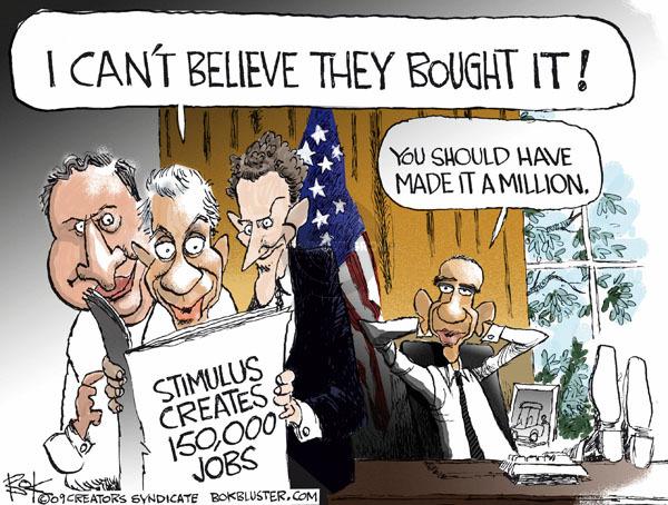 Cartoonist Chip Bok  Chip Bok's Editorial Cartoons 2009-06-11 Obama economy