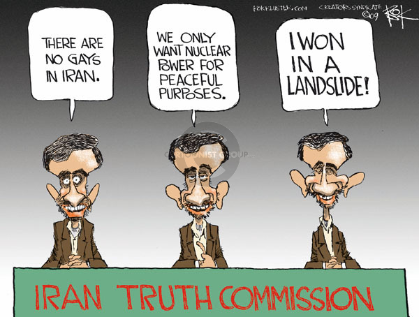 Chip Bok  Chip Bok's Editorial Cartoons 2009-06-16 2009 Iranian election